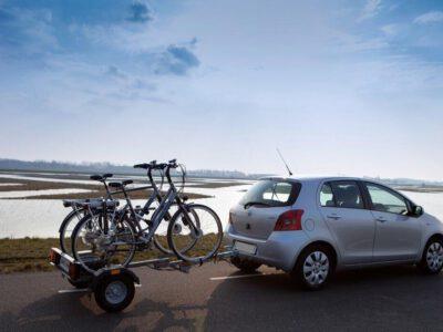 Fietsaanhangwagen voor 2 E-bikes / 2 fietsen opklapbaar ongeremd